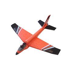 Playmobil orange childrens aeroplane with black wings made from ARPRO (expanded polypropylene)