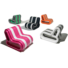 Modular sofa made from ARPRO (expanded polypropylene) with a special ergonomic and light-hearted appearance made by Movisi. Shown in Black, Magenta, White, Grey, Orange and Lime.